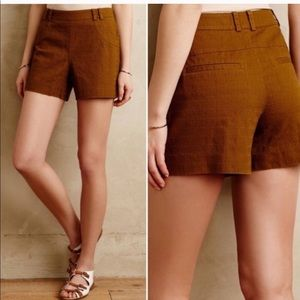 Anthropologie Elevenses High-waisted Chino Shorts